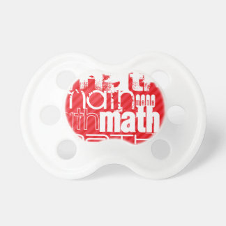Math; Scarlet Red Stripes BooginHead Pacifier