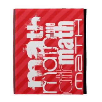 Math; Scarlet Red Stripes iPad Folio Covers