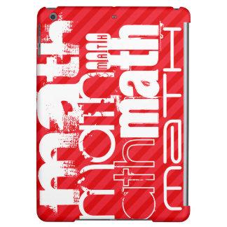 Math; Scarlet Red Stripes iPad Air Case