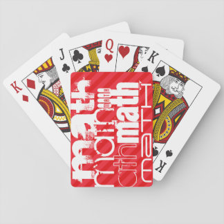 Math; Scarlet Red Stripes Poker Deck