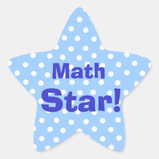 Math Star customizable subject stickers