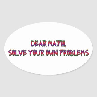 math oval sticker