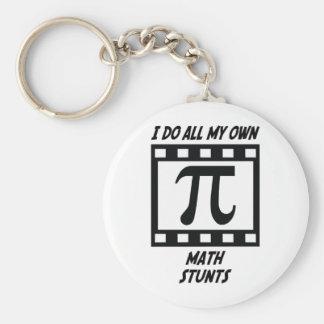 Math Stunts Basic Round Button Key Ring