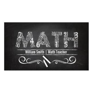 Math Teacher Pack Of Standard Business Cards