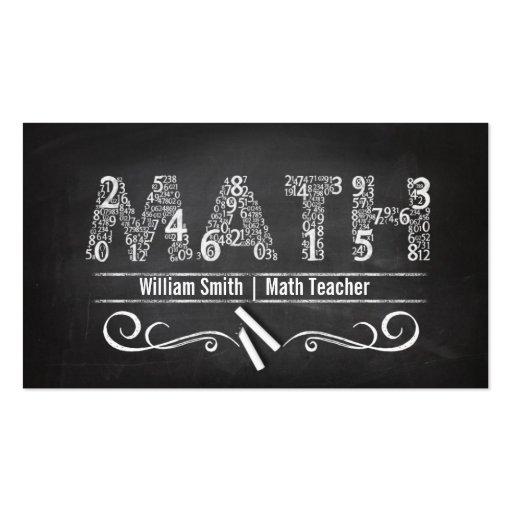 Math Teacher Business Card Template