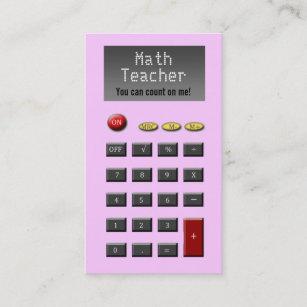 Calculator business cards zazzle uk math teacher business cards reheart Gallery
