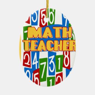 Math Teacher Ceramic Oval Decoration