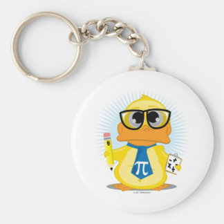 Math Teacher Duck Key Chain