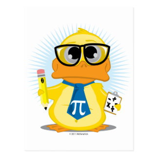Math Teacher Duck Postcard