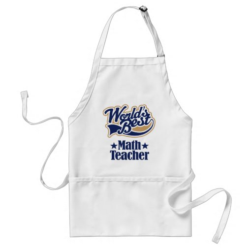 Math Teacher Gift For (Worlds Best) Apron
