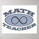 Math Teacher Infinity Posters