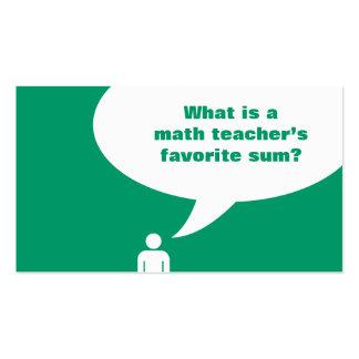 math teacher joke business card template