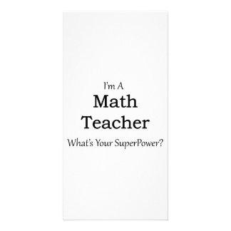 Math Teacher Photo Greeting Card