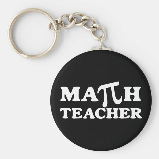 Math Teacher PI Basic Round Button Key Ring