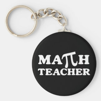 Math Teacher PI Key Ring