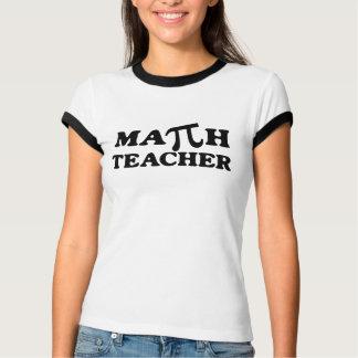 Math Teacher PI Ladies Ringer T-Shirt