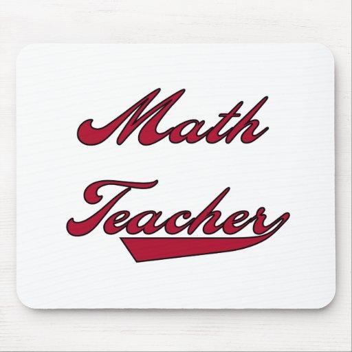 Math Teacher Red Mouse Pads