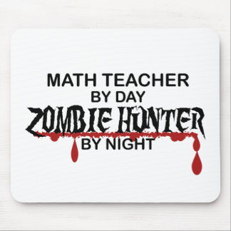 Math Teacher Zombie Hunter Mouse Pad