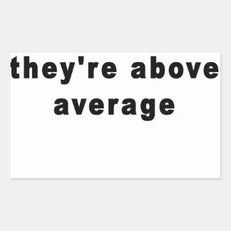 Math teachers aren't mean, they're above average T Rectangular Sticker