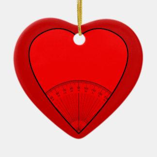 Math Teachers Believe In Angles Ceramic Heart Decoration