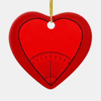 Math Teachers Believe In Angles Double-Sided Heart Ceramic Christmas Ornament