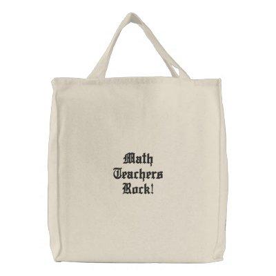 Math Teachers Rock! Bag