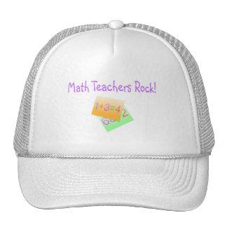 Math Teachers Rock Mesh Hats