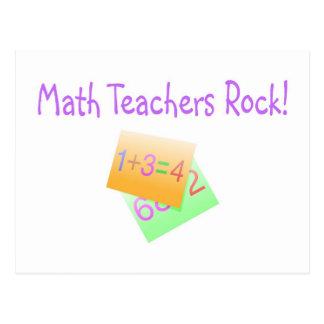 Math Teachers Rock Postcard