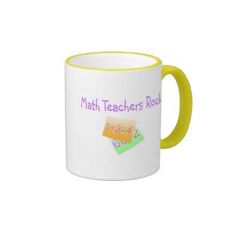 Math Teachers Rock Ringer Mug