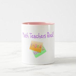Math Teachers Rock Two-Tone Mug