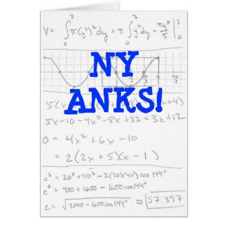 Math Thank You Card