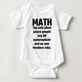 Math The Only Place Where People Buy 60 Watermelon Baby Bodysuit
