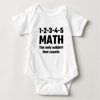 Math The Only Subject That Counts Baby Bodysuit