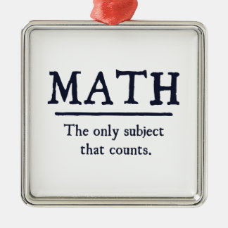 Math The Only Subject That Counts Christmas Ornament