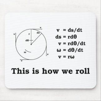 Math! This is how we roll Mouse Mat
