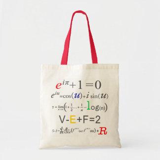 Math Tote Bag-Euler Formula Budget Tote Bag