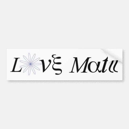 Math Tribute Bumper Sticker