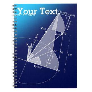 Math, Trigonometry Style Notebook