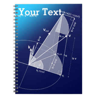 Math, Trigonometry Style Spiral Notebook