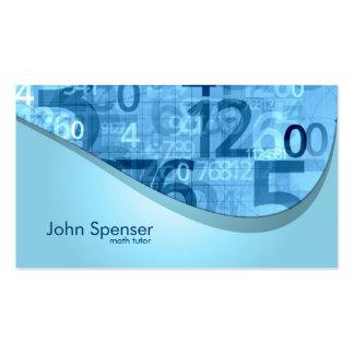Math Tutor Blue Numbers Business Card