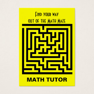 Math Tutor Business Card