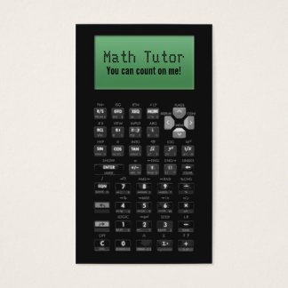 Math Tutor Business Cards