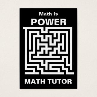 Math Tutor ... math is power Business Card
