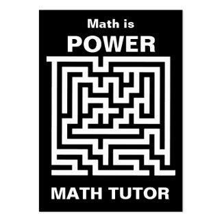 Math Tutor ... math is power Pack Of Chubby Business Cards
