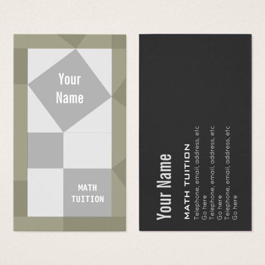 Math Tutor Pythagoras Theorem Business Cards