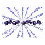 Math Tutor toy blocks in blue Postcard