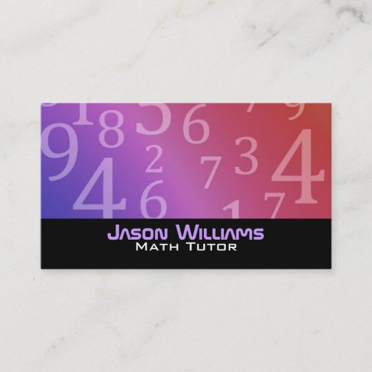 Math tutoring business cards zazzle math tutoring business cards colourmoves