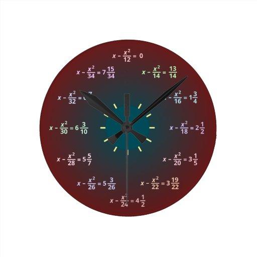 Math wall clock (AM-PM)
