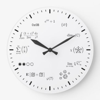 Math Wall Clock (Large)