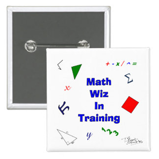 Math Wiz in Training Buttons